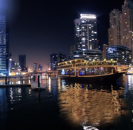 Dubai Marina Dhow Cruise – with dinner